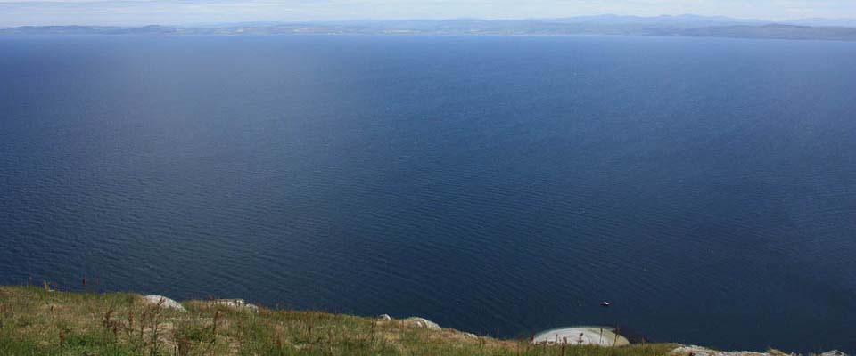 View from Ailsa Craig to Scotland image