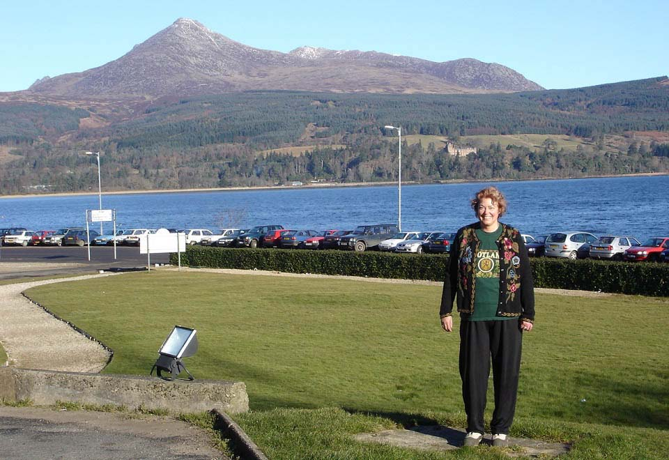 McAlpine Hotel Gardens with Goat Fell Mountain image