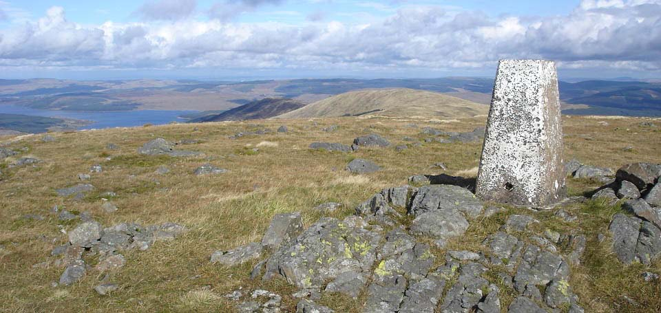 Meaul Trig Point view to Loch Doon image