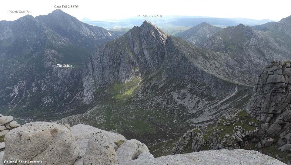 Caisteal Abhail view to Goat Fell image