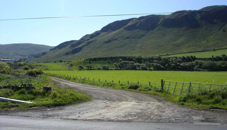 Girvan hills walking route image