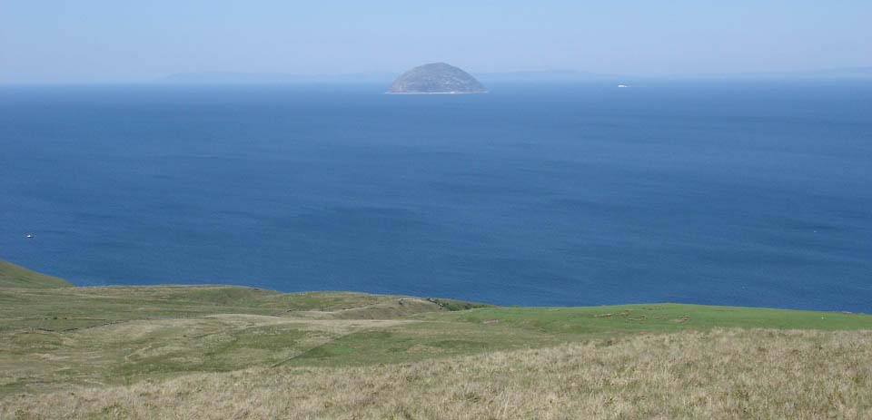 Girvan hills view to Ailsa Craig image