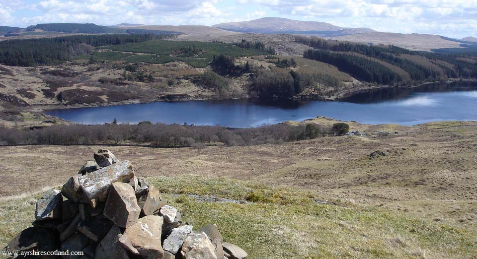 Glessel Hill view over Loch Doon Dam image