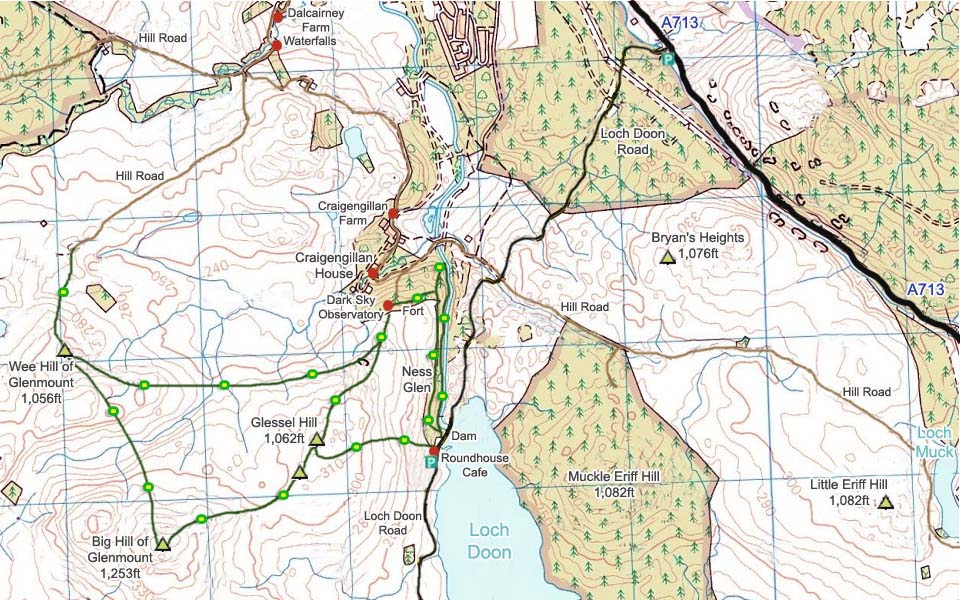 Glessel Hill Map image