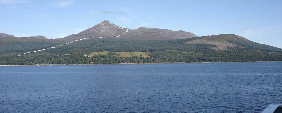Goat Fell from the Arran Ferry image