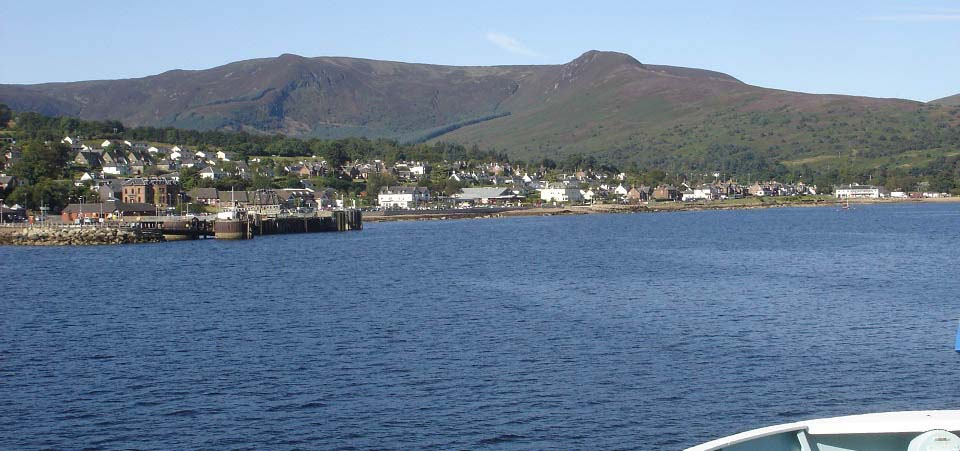 Brodick from the Arran Ferry image