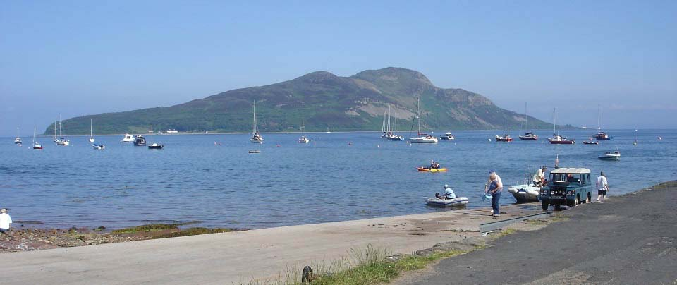 Holy Isle from Lamlash image